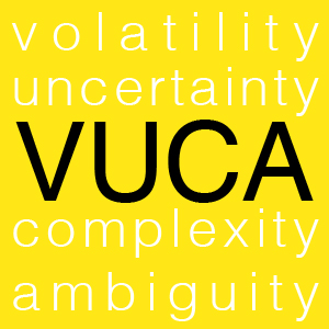 What is VUCA and how does it affect leadership?