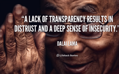 Courageous Leadership requires transparency